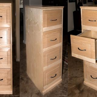 Four Drawer File Cabinet With Baltic Birch Plywood And Maple Hardwoods