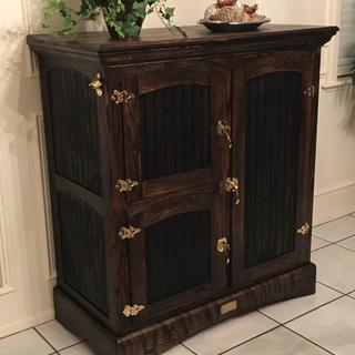 I Made The Ice Box From Red Oak. Love It!