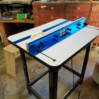 Rockler high pressure laminate router table top rockler a sturdy table for sure and worth the money greentooth Gallery