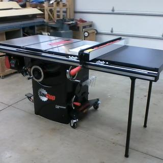 Sawstop professional table saw mobile base mb pcs 000 rockler sawstop professional model 36 fence and 175 greentooth Image collections