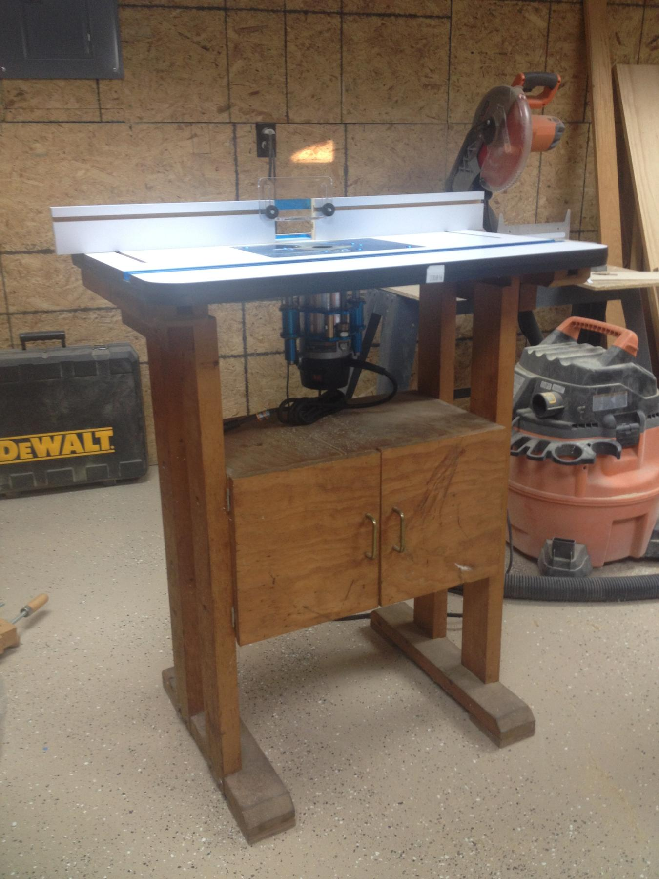 Rockler high pressure laminate router table fence router and fx my old table need an update so here it iswill be keyboard keysfo Images