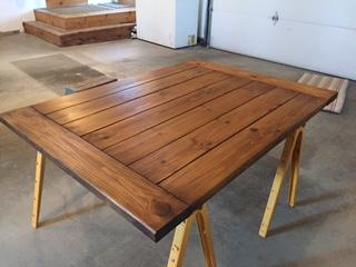 Table Top With One Coat Of Antique Walnut Gel Stain