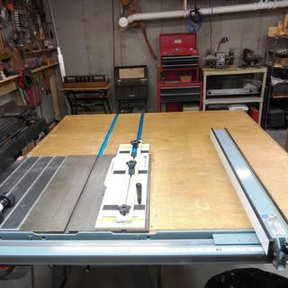 Bench Saw, Auxiliary Table Miter Track Extensions