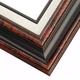 14 Burled Mahogany w/ Black Frame