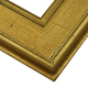 Cracked Gold Wood Picture Frame