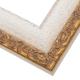 RNR9 Antique White W/Gold Frame
