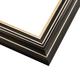 2BK Black w/ Gold Frame