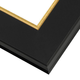 Modern Black Picture Frame with  Gold Lip