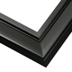Black Lacquer Wood Picture Frame