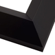 Angled Black Satin Wood Picture Frame