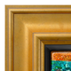 Elegant Gold Leaf Canvas Floater Frame