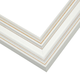 Contemporary White Wood Picture Frame