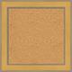 AR16 Gold Cork Bulletin Board
