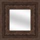 Cocoa Wood Framed Mirror
