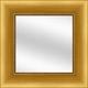 Brushed Gold Framed Mirror