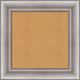EWB11 Muted Silver Cork Bulletin Board