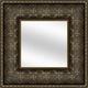 Gold Botanical Framed Mirror