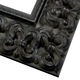 Ornate Antique Black Wood Picture Frame