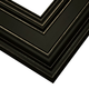 Black Satin Wood Picture Frame