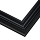 Curved Black Satin Metal Picture Frame