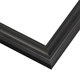 Sloped Black Satin Wood Picture Frame