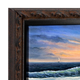 Black Rust Wood Canvas Floater Frame