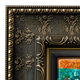 Ornate Gold Botanical Canvas Floater Frame