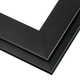 Contemporary Matte Black Wood Picture Frame
