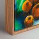 Pecan Woodgrain Canvas Box Picture Frame