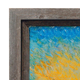 Gray Barnwood Canvas Floater  Frame