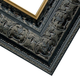 Ornate Black with Gold Wood Picture Frame