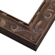 Ornate Sloped Cocoa Wood Picture Frame