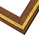 RLE6 Reclaimed Oak w/ Gold Inlay Frame