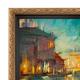 Modern Gold Swirl Canvas Floater Frame