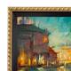 Modern Gold Rope Canvas Floater Frame