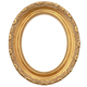 Oval Ornate Gold Picture Frame