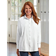 Long Sleeve Silk Cotton Tunic Shirt