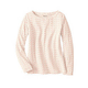 Silk Cotton Long Sleeve Boatneck Tee