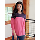 Long Sleeve Colorblock Tunic Stretch Top