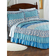 Tiered Ruffle Quilted Bedspread
