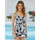 Intermingle V-Neck Swim Dress by Penbrooke