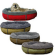 Faux Suede & Berber Comfy Cup Dog Bed Sage