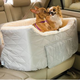 Large Lookout Pet Car Seat Denim