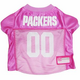 Green Bay Packers Pink Dog Jersey Large