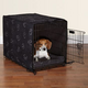 ProSelect Pawprnt Dog Crate Cover and Bed MD Black