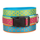 East Side Polka Dot Dog Collar 18 to 26in Rasp