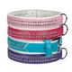 East Side Gemstone Dog Collar 14 to 18in Violet