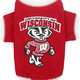 NCAA Wisconsin Badgers Dog Tee Shirt Large