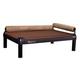 High snoozeLounge Choco Dog Bed LG Black Orange