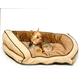 KH Mfg Bolster Couch Mocha Dog Bed Small